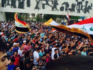 Manifestantes iraquíes