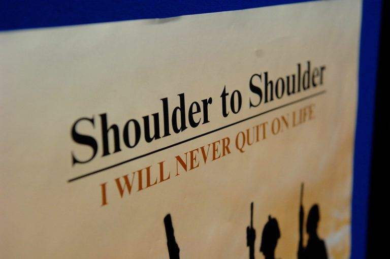 """Shoulder to Shoulder"" - I will never quit on life"