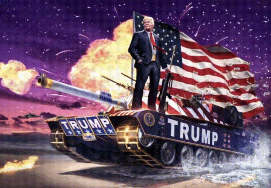 Trump en un tanque