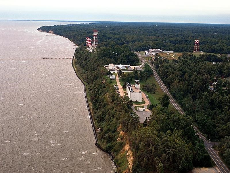 The Naval Research Lab - Chesapeake Beach Detachment (NRL-CBD) sits atop a 100' high bluff overlooking the Chesapeake Bay.