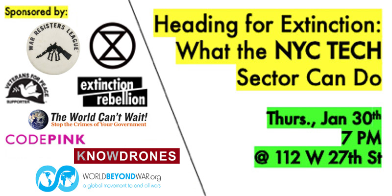 Extinction Rebellion event announcement, January 2020