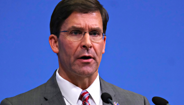 Defense Secretary Mark Esper, a former top executive at Raytheon, one of the nation's largest defense contractors, was recognized as a top corporate lobbyist by the Hill newspaper two years in a row.