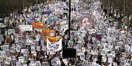 UK protest against iraq war February 15, 2003. Credit: Stop the War Coalition