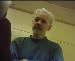 Julian Assange en Belmarsh Malliberejo