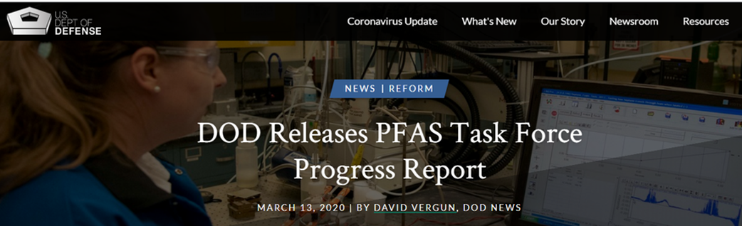 More propaganda from the DOD on PFAS