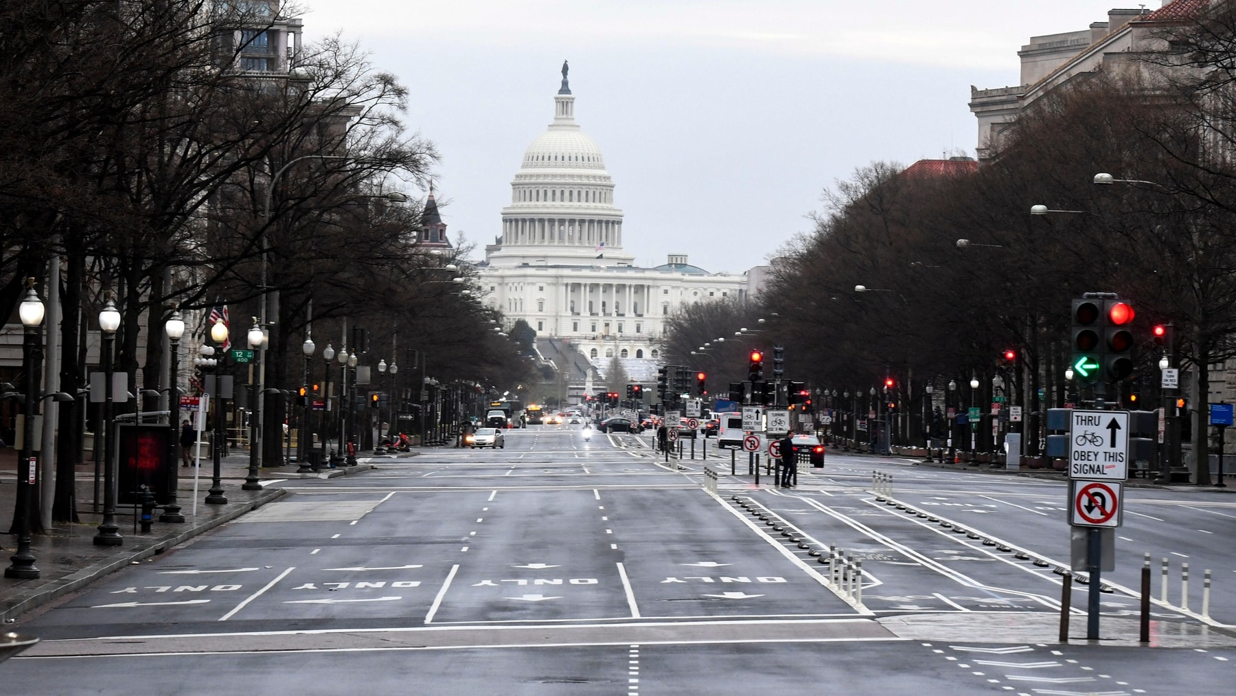 Empty Washington DC