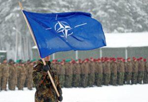 Una bandera de la OTAN