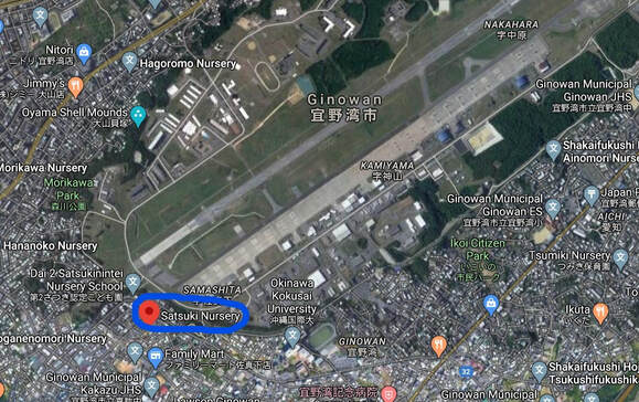 Satsuki Nursery School is shown in relation to Marine Corps Air Station Futenma