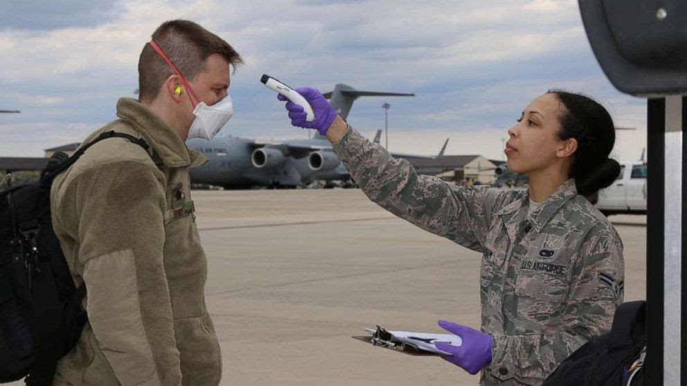 As of May 1, there were 7,145 cases of COVID-19 in the US military, with more falling sick every day. Credit: MIlitary Times