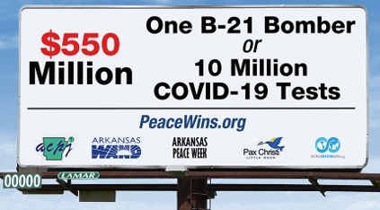 Billboard: One B-21 Bomber or 10 Million COVID-19 Tests