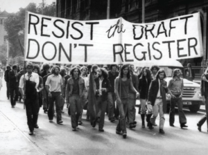 1960s-era US anti military draft protest
