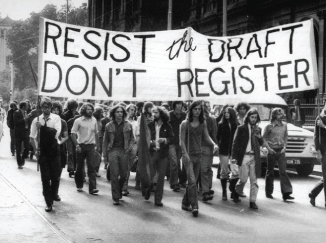 1960s-era US anti military draft protest