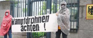 Protesta contra drones en Berlín