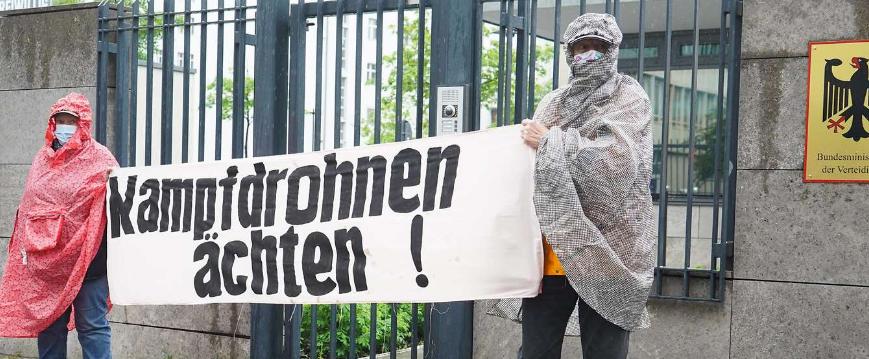 Anti-Drohnen-Protest in Berlin