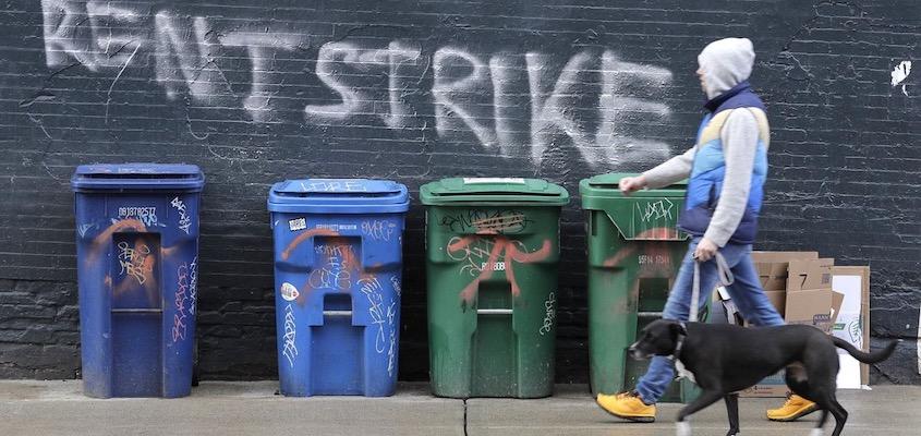 Rent Strike graffiti