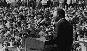 Martin Luther King spricht