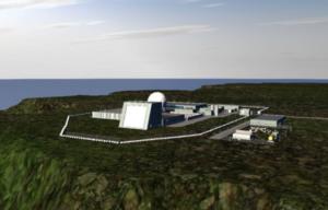 Representación de la base de radar militar propuesta en Hawai