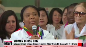Frauen überqueren DMZ in Korea