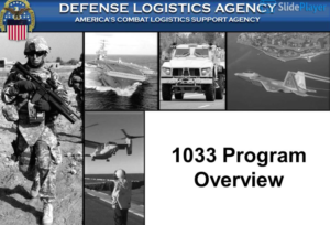 Program 1033, the transfer of US military equipment to police
