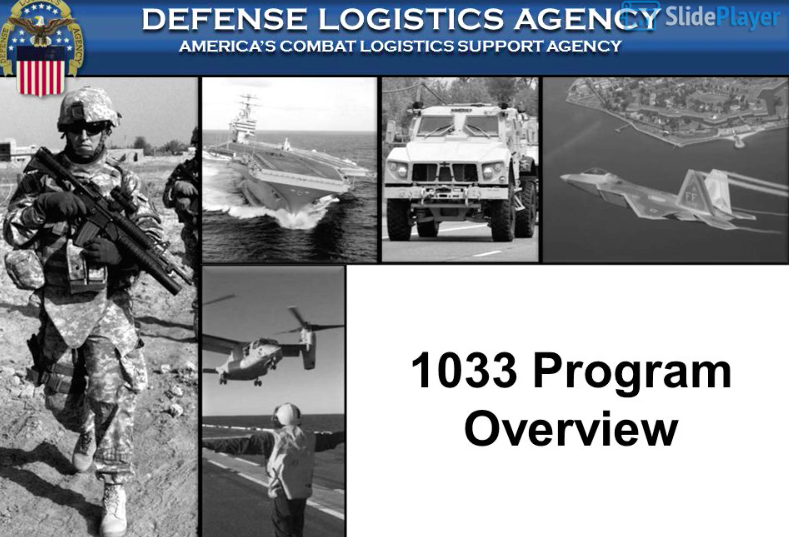 Programo 1033, la translokigo de usonaj militaj ekipaĵoj al polico