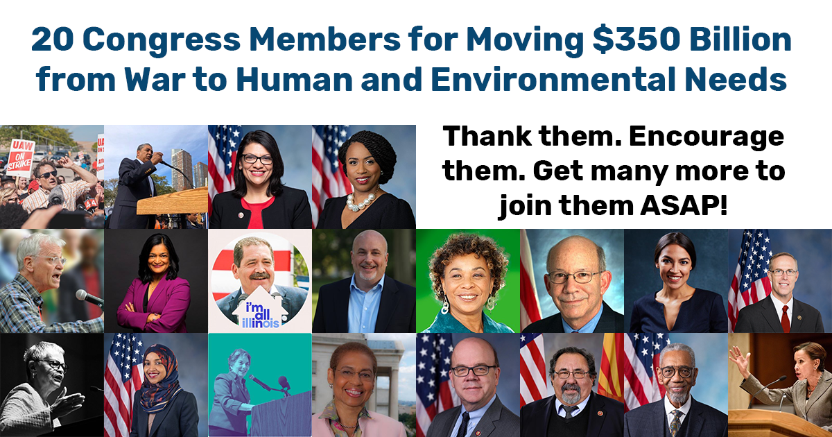 20 Congress Members Who Understand What's Needed