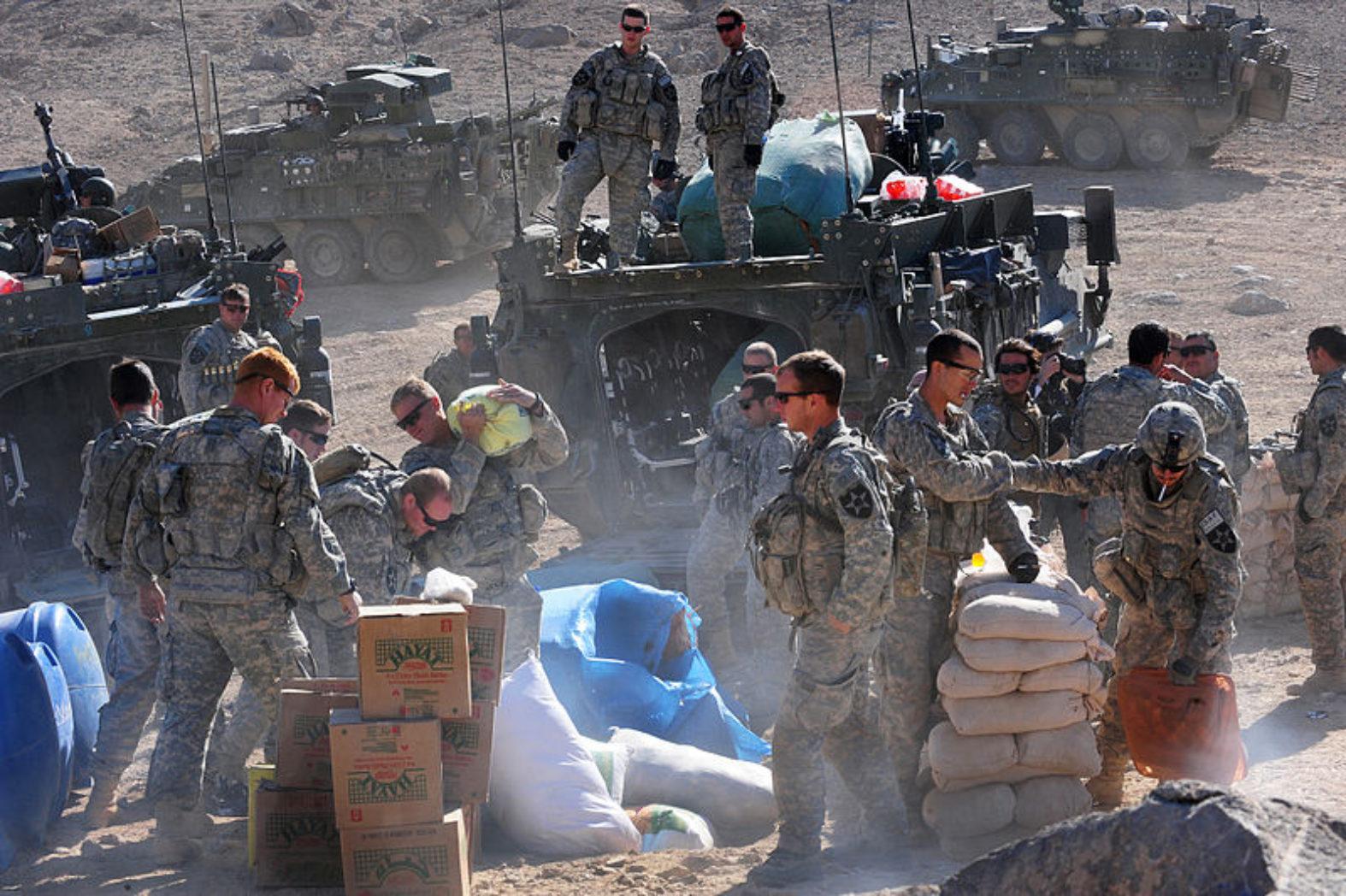 US Army Humanitarian aid in Rajan Kala, Afghanistan