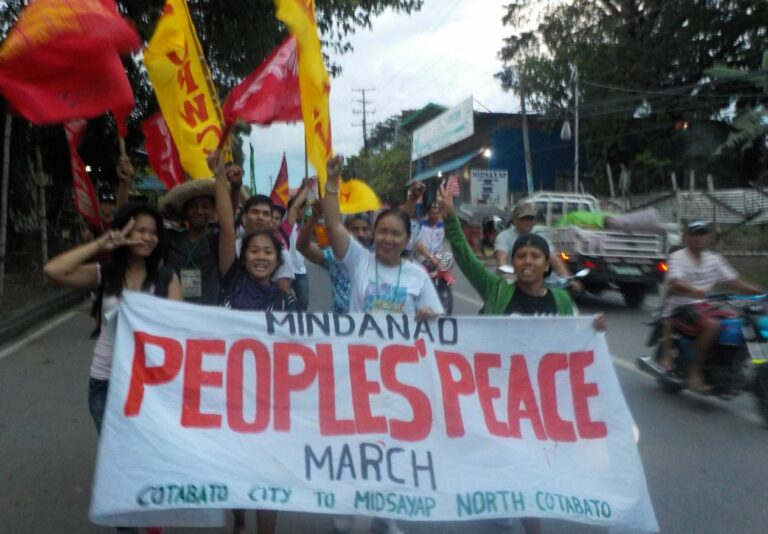 Mindanao people's peace march