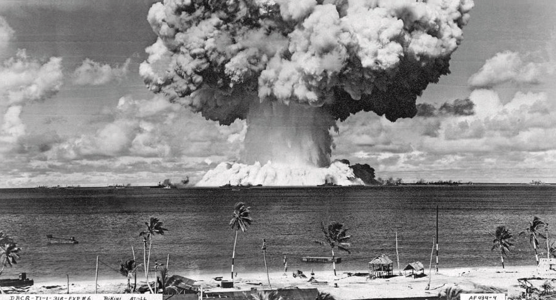 atomic test at Bikini atoll