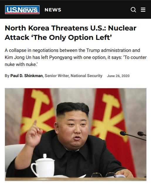 Usonaj novaĵoj kaj raportoj pri monda raporto pri nordkorea nuklea minaco