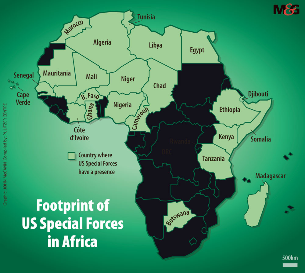 Huella de las Fuerzas Especiales de EE. UU. En África