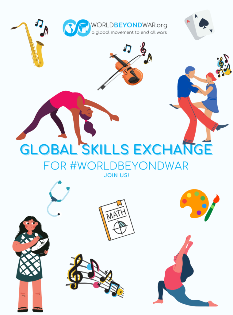 Global Skills Exchange for #WorldBeyondWar