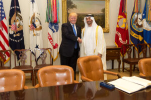 Trump and MBZ of UAE
