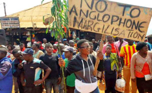 protest in Cameroon