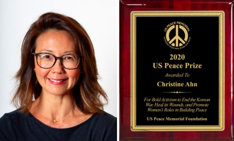 Christine Ahn awarded US Peace Prize