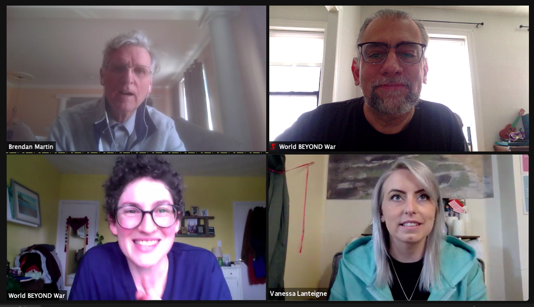 Dr. Brendan Martin, Vanessa Lanteigne, Rachel Small and Marc Eliot Stein in Zoom interview