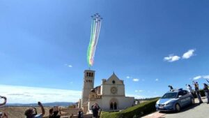 Warplane display in Assisi