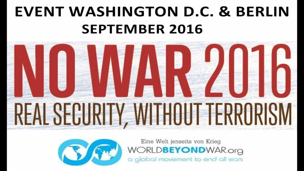 Pancarta No War 2016