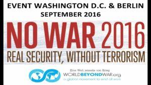 No War 2016 Banner