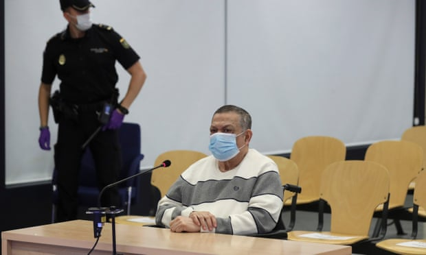 Inocente Orlando Montano in court in Madrid in June. He admitted being a member of La Tandona, a group of corrupt senior army officers who had risen to the top of El Salvador's political and military elite. Photograph: Kiko Huesca/AP