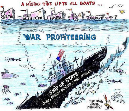 cartoon about war profiteering