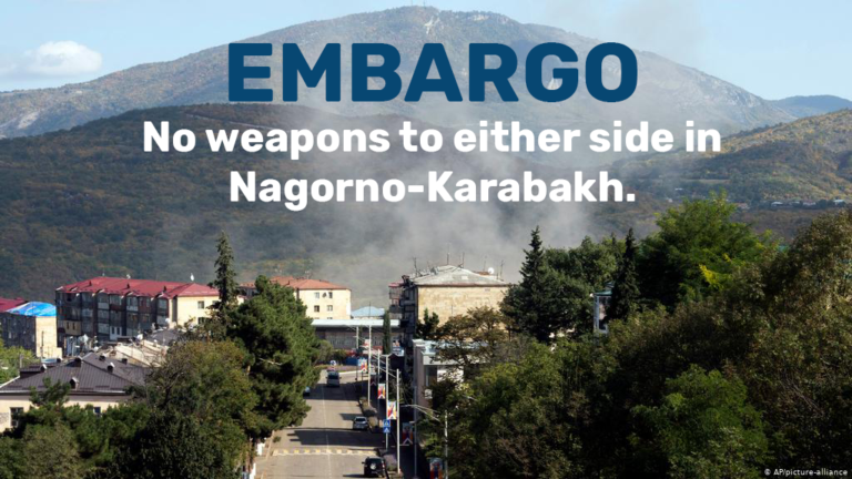 call for embargo in Nagorno-Karabakh conflict