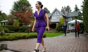 Meng Wanzhou with ankle restraint