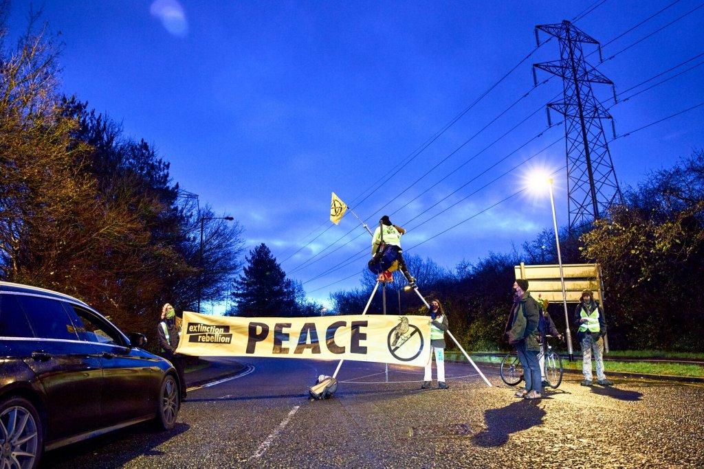 XR Bristol protest site