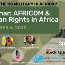 Webinar: AFRICOM & Human Rights In Africa